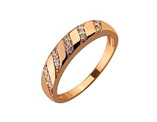 Золота каблучка з цирконієм куб. 01-17586576 фотографія