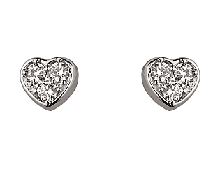 Золоті сережки з діамантом 01-17668676 фотографія