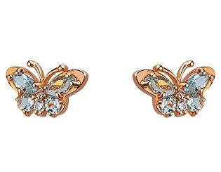 Золоті сережки з топазами 01-17374177 фотографія