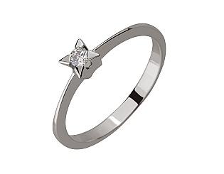 Золотое  кольцо с бриллиантами 01-17387177 фотография