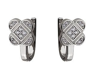 Золоті сережки з діамантами 01-17497177 фотографія