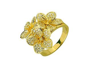 Золота каблучка з цирконієм куб. 01-17552977 фотографія
