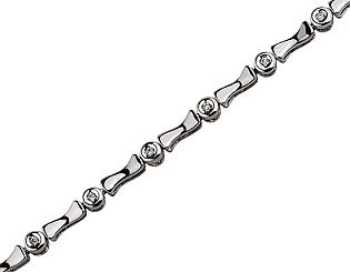 Золотой  браслет с бриллиантами 01-17593077 фотография