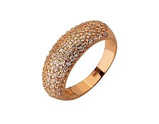 Золота каблучка з цирконіями 01-17620877 фотографія