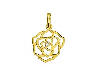 Золотий кулон з діамантами 3б_п-066 фотографія