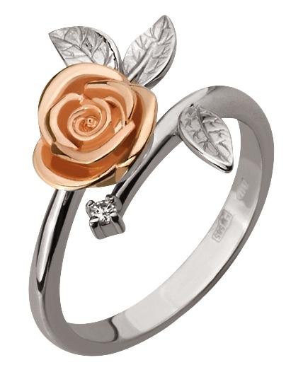 Золотое кольцо с бриллиантом (15-000112780)