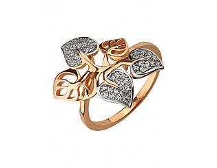 Золотое кольцо с фианитом 8б_к-067 фотография
