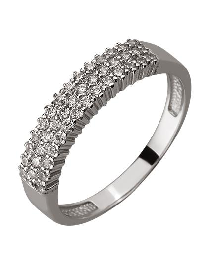 Золотое кольцо с цирконием куб. 01-17578978 фотография 1