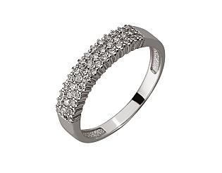 Золотое кольцо с цирконием куб. 01-17578978 фотография