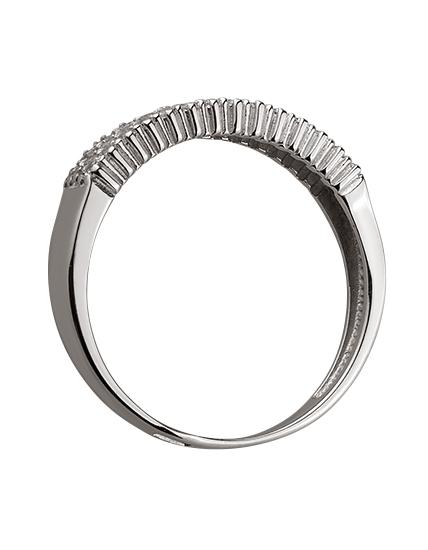 Золотое кольцо с цирконием куб. 01-17578978 фотография 2