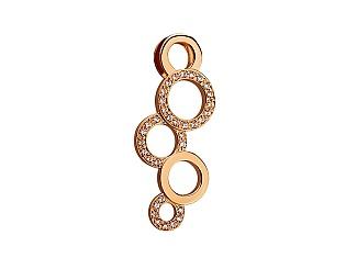 Золотой кулон с циркониями 01-17620878 фотография