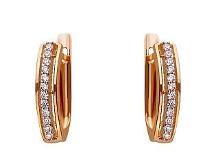 Золоті сережки з цирконієм куб. 01-17656578 фотографія