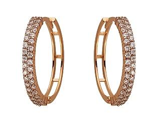 Золоті сережки з цирконієм куб. 01-17668678 фотографія