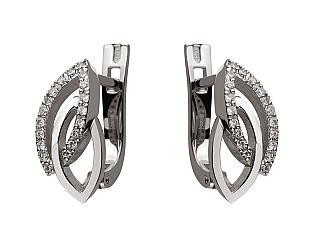 Золоті сережки з діамантом 2с-170 фотографія