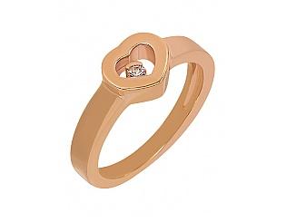 Золота каблучка з діамантом 1к-259 фотографія