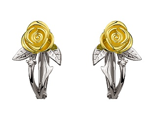 Золоті сережки з діамантом 5б_с-081 фотографія