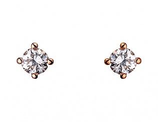 Золоті сережки з діамантами 1б_с-090 фотографія