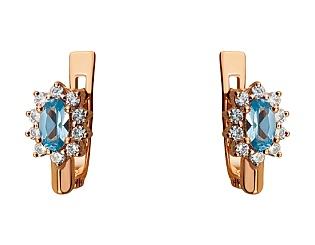 Золоті сережки з фіанітами 01-17223079 фотографія