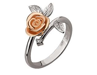 Золотое кольцо с бриллиантом 01-17534079 фотография