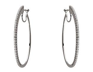 Золоті сережки з діамантом 01-17620779 фотографія