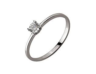 Золотое кольцо с бриллиантом 01-17620879 фотография