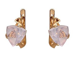 Золоті сережки з кварцом 01-17680079 фотографія