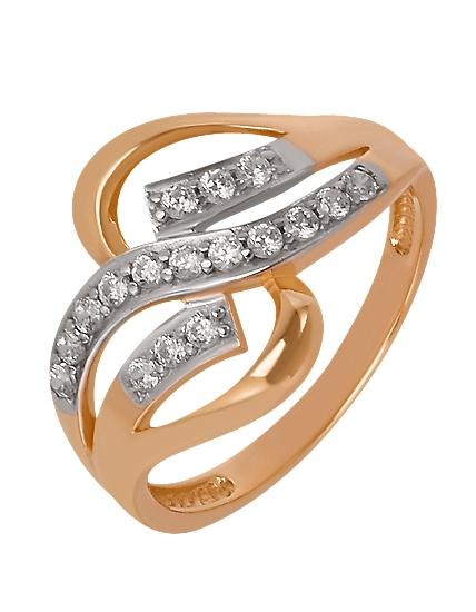 Золотое кольцо 585 пробы c фианитами :: золотое ювелирное украшение