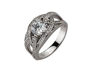 Золотое кольцо с циркониями 2б_к-156 фотография