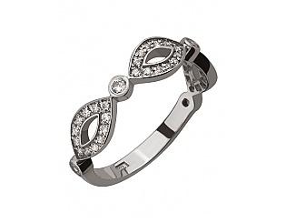 Золотое кольцо с циркониями 2б_к-107 фотография