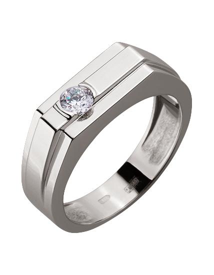 Золотой перстень 585 пробы с фианитом (15-000079478)