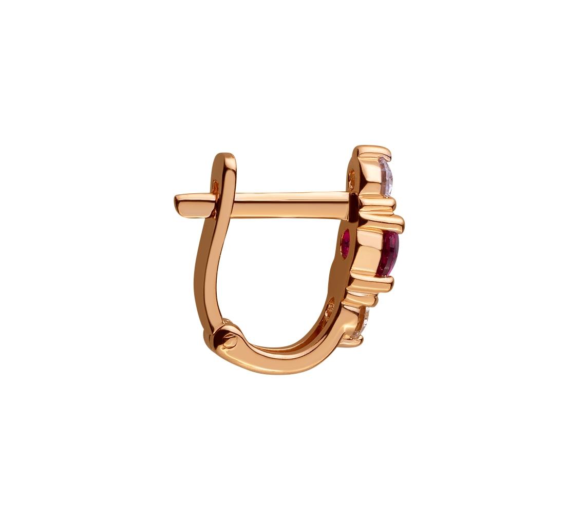 Золоті сережки з фіанітами 01-17395680 фотографія