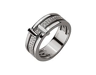 Золота каблучка з діамантом 01-17599280 фотографія