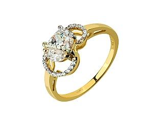 Золотое кольцо с фианитами 01-17017781 фотография