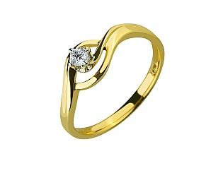 Золота каблучка з діамантами 01-17547981 фотографія