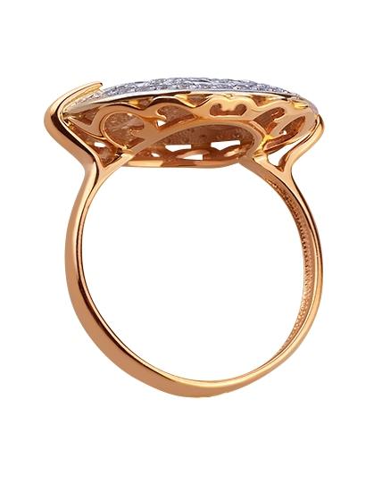 Золота каблучка з цирконієм куб. 01-17578981 фотографія 2