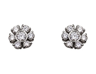 Золоті сережки з діамантами 2б_с-092 фотографія