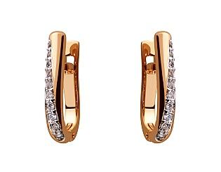 Золоті сережки з фіанітом 8с-158 фотографія