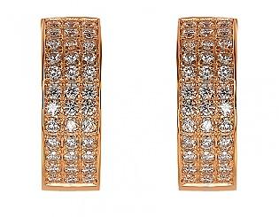 Золоті сережки з цирконіями 1б_с-021 фотографія