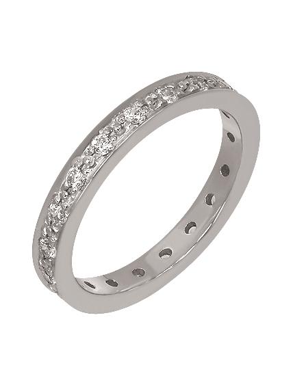 """Золотое обручальное кольцо 585 пробы с фианитами (15-000055178) """"Ювелирная карта"""""""