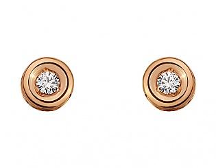 Золоті сережки з діамантами 1б_с-094 фотографія
