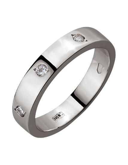 """Золотое обручальное кольцо 585 пробы с фианитами (15-000089645) """"Ювелирная карта"""""""