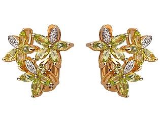 Золоті сережки з кварцом 01-17463582 фотографія