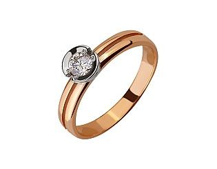 Золота каблучка з діамантом 01-17656482 фотографія