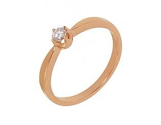 Золотое кольцо с бриллиантом 1к-036 фотография