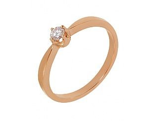 Золота каблучка з діамантами 1к-036 фотографія