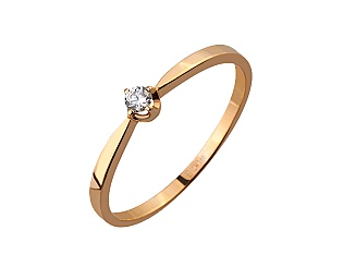 Золотое кольцо с фианитами 1к-036 фотография