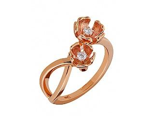 Золотое кольцо с бриллиантами 1к-279 фотография