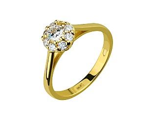 Золота каблучка з діамантами 3б_к-145 фотографія