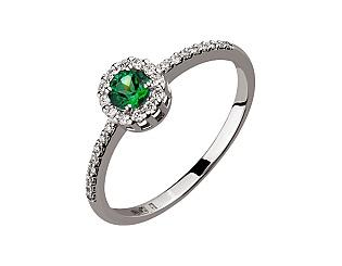 Золотое кольцо с топазами и бриллиантами 2б_к-141 фотография