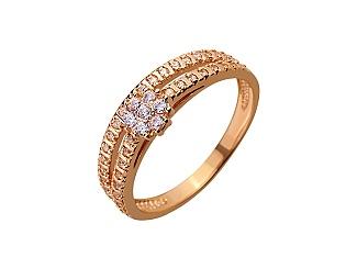 Золотое кольцо с фианитом 01-17420383 фотография
